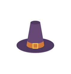 Pilgrim blue hat with buckle and belt vector