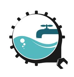 Plumbing repair symbol vector