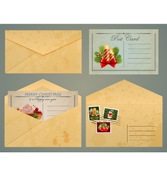 Postcards and envelopes vector image