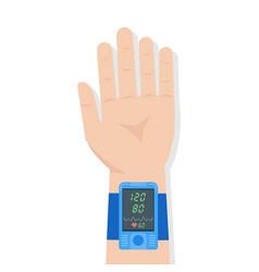 Pulse oximeter icon pulse measurement determining vector