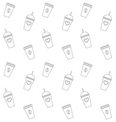 seamless pattern take away coffee pattern vector image