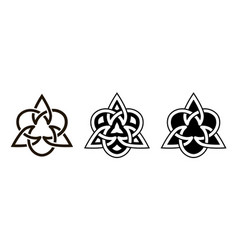 Set celtic knots triangular icons traditional vector