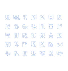 set line icons of 3d printing vector image