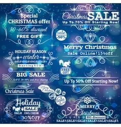 Set of special sale offer labels vector image