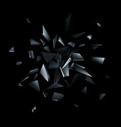 shards broken glass abstract explosion vector image