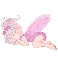 Sleeping pixy fairy vector image