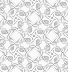 Slim gray hatched twisted shapes in turn vector image