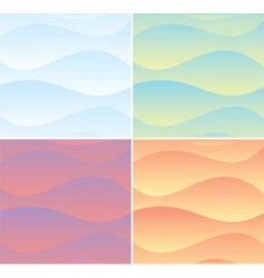 soft wave background vector image