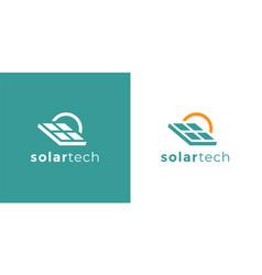 solar tech company logo icon vector image