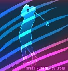 Sport neon series golf vector
