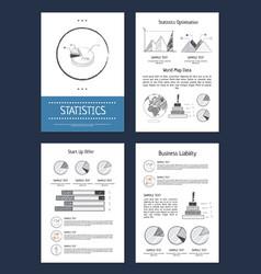statistics representation vector image