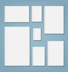 template book set vector image