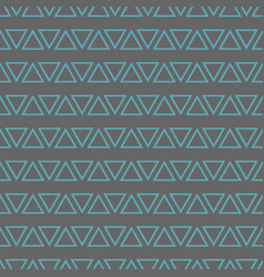 tile pattern with mint blue triangles on pastel vector image