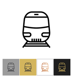 train icon railway transport sign or metro vector image