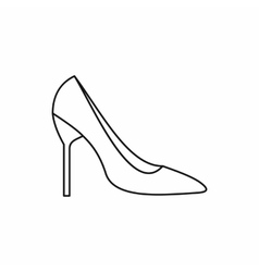 Bride shoes icon outline style vector image vector image