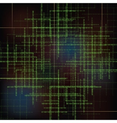 Abstract technology background with binary code vector image vector image
