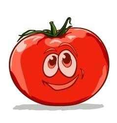 cartoon tomato vector image vector image
