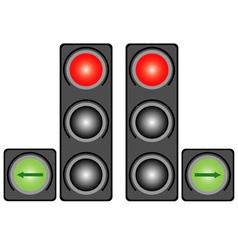 City traffic light vector image vector image