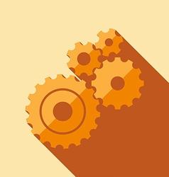 GearsFlatMinimal01 vector image
