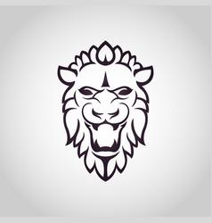 lion logo icon design vector image vector image