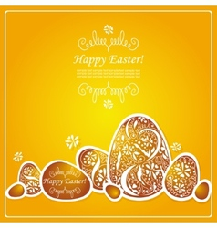 Card with Easter eggs vector image