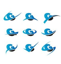 Alphabet G Logo Icons vector image