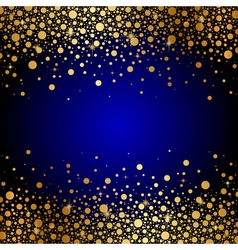 blue and gold luxury background vector image
