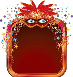 carnival frame vector image