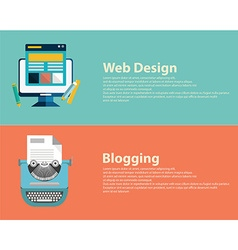 Flat designed banners for graphic design web vector image