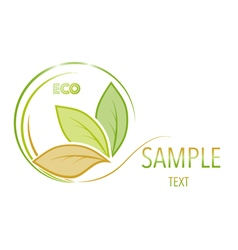 Green and orange leaves on white background vector image vector image