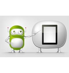 Green Robot vector image