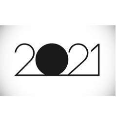 2021 black and white thin vector