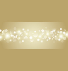 abstract gold bokeh lights background vector image