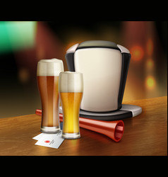 Acessories of fan with beer vector