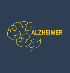 Alzheimer logo icon design vector