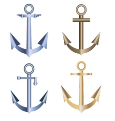 Anchors collection retro anchors anchor logo mar vector