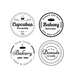 Bakery and cupcakes labels vector