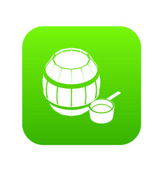 barrel honey icon green vector image