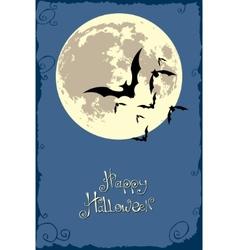 Bats in moonlight vector