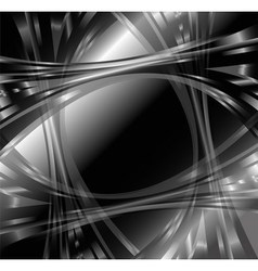 Black and white abstract wave background vector