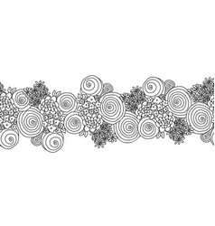 black and white flower bouquet seamless vector image