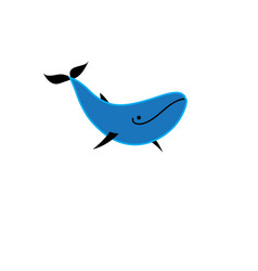 blue whale icon isolated vector image