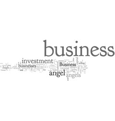 Business angels investment vector