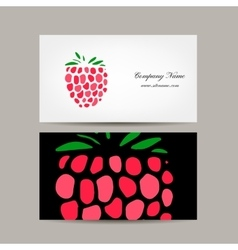 Business card template raspberry design vector