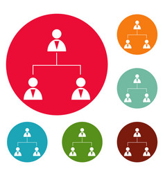 business structure icons circle set vector image