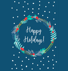 card happy holidays vector image