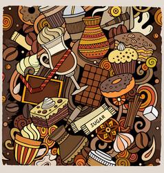 Cartoon doodles coffee house vector