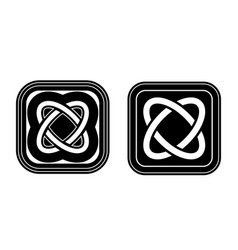 celtic knot emblems square icons traditional vector image