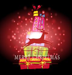 christmas decor and symbols vector image