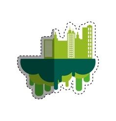 City urban buildings vector